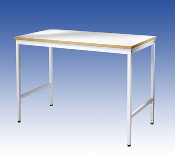 Lab bord B1800xD800 mm, justerbar høyde 750-1050 mm, høytrykkslaminat