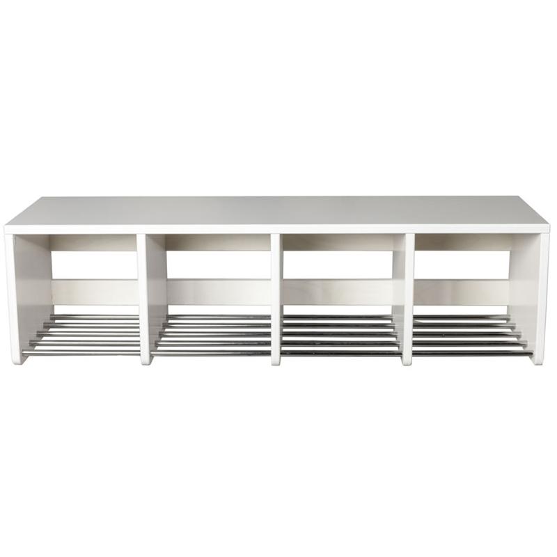 Herlig Skohylla Wood med sittbänk, väggmonterad, 2 sektioner, 250x500x375 mm IV-24